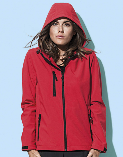 Softshell mujer con capucha Active (ST5340)