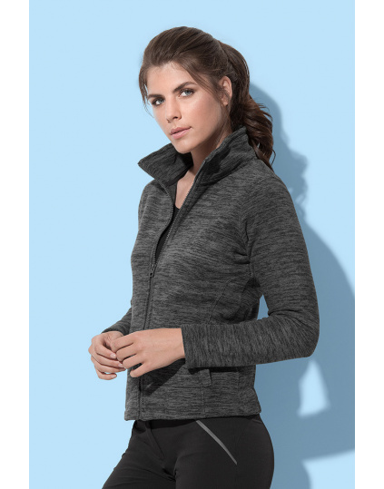 Active Melange Fleece Jacket Chaqueta fleece para mujeres