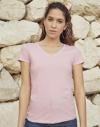 Ladies` Valueweight V-Neck T - 61-398-0(129.01)